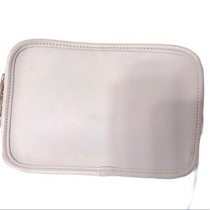 COACH vintage white glovetan leather crossbody bag